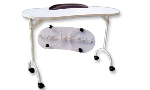Csc 109 portable foldable manicure table classic spa for Mobile manicure table