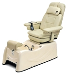 Pibbs PS76P Florence Pedi Spa w/Massage and Reclinable Beige Base
