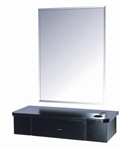 B&S Mirror Styling Station SH-1301 Cherry