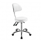 Lolli SB White Stool with Backrest